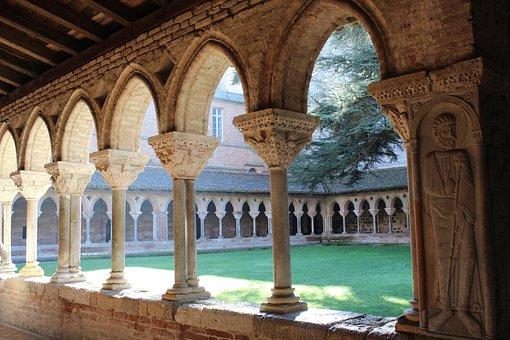 Cloister, Moissac, Lot, Church, Village, Occitania