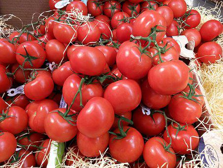 Tomatoes, Vegetables, Italian, Market Stall, Red