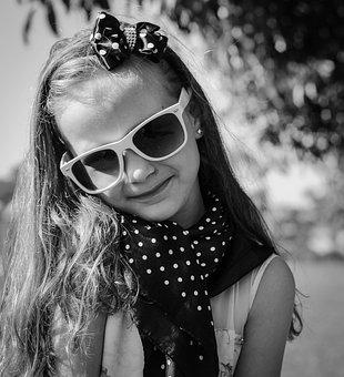 Vintage, Poa, Girl, Look, Model, Smile, Little Girl