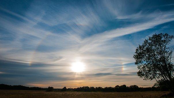 Nature, Sunset, Solfenomen, Tree, Cloud, Landscapes