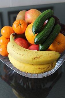 Fruits, Cucumbers, Banana, Organg
