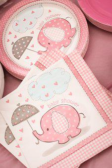 Baby Shower, Girl, Pink, Decorative