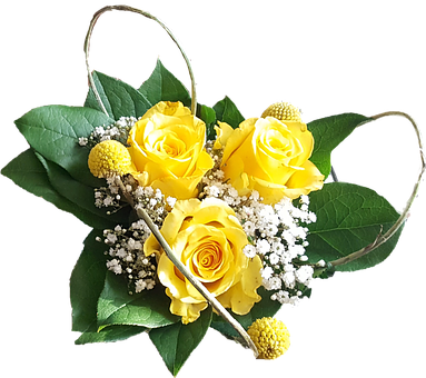 Flowers, Yellow, Nosegay, Roses, Easter