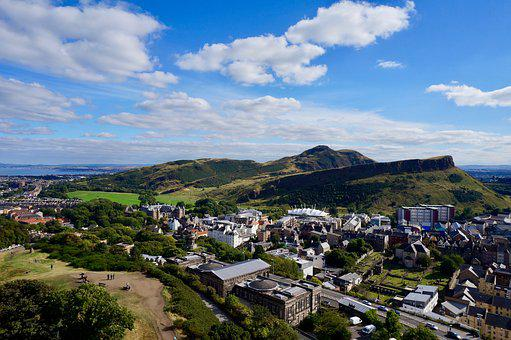 Edinburgh, Arthur's Seat, Hills, Seat, Scotland, Uk