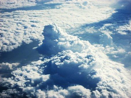 Cloud, Sky, Airplane, Window, Blue, Blue Sky, White