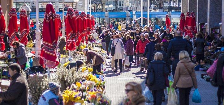 Croatia, Zagreb, Springtime, Market, Square, Tourist
