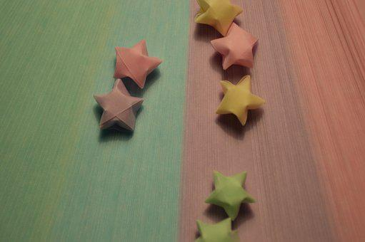Origami, Stars, Paperstrips