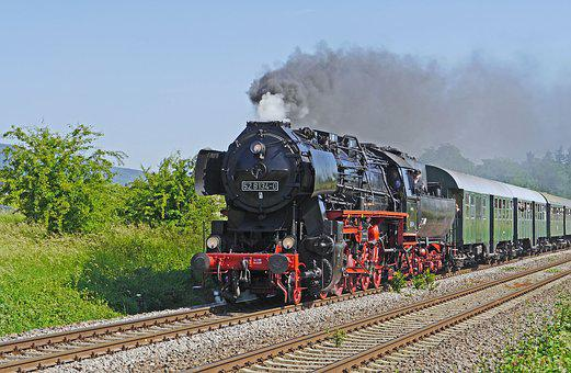 Steam Locomotive, Special Crossing, Railway, Nostalgia