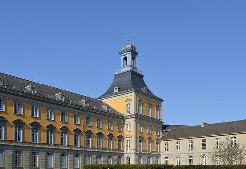 University, Bonn, Building, Architecture, Old