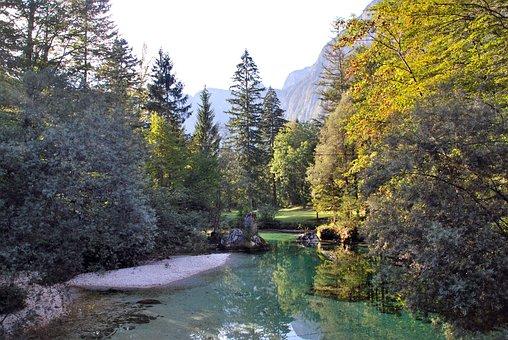 Lake, Nature, Slovenia, Bohinj, Background, Green, Blue