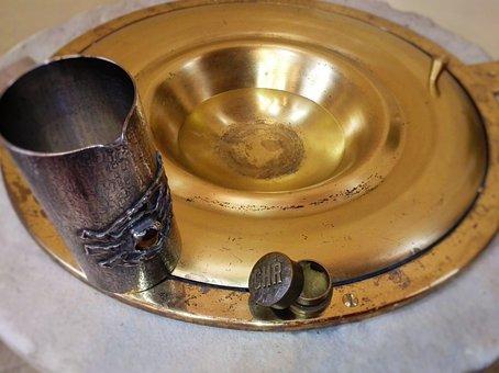 Baptismal Font, Baptism, Church, Water, Chrism