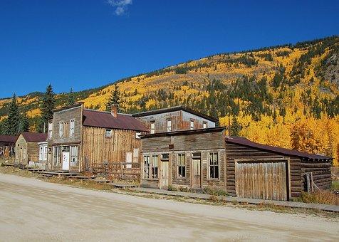 St Elmo, Fall, Colorado, Ghost Town, Autumn, Yellow