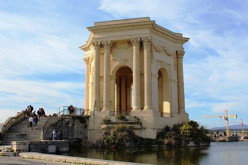 Montpellier, Peyrou, Esplanade, South Of France