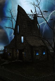 Spooky, House, Flash, Flashes, Scary, Ghostly, Ghosts
