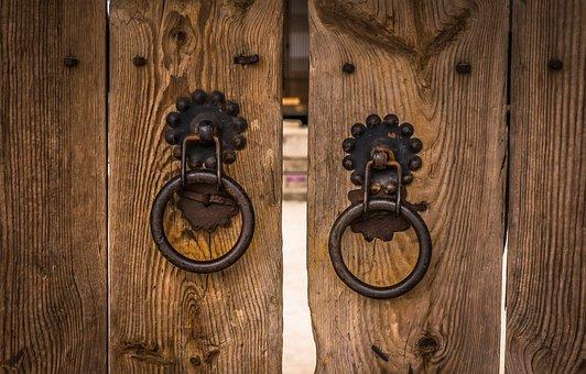 Knocker, Traditional, Gate, The Front Door, Hanok, Wood