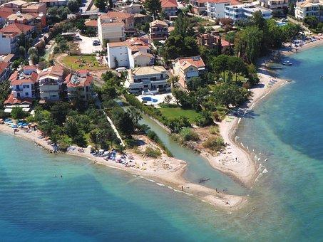 Aerial Photograph, Lefkada, Nidri, Greece, View, High