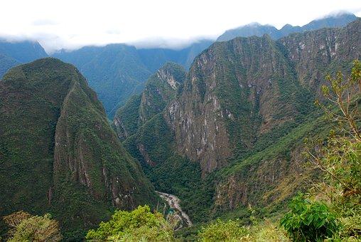Peru, Machu Picchu Pixar, Mountain, Inca