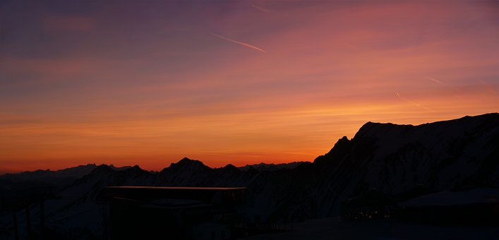 Sunrise, National Park, High Tauern, Morgenrot