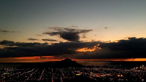 Sunset, Hawaii, Oahu