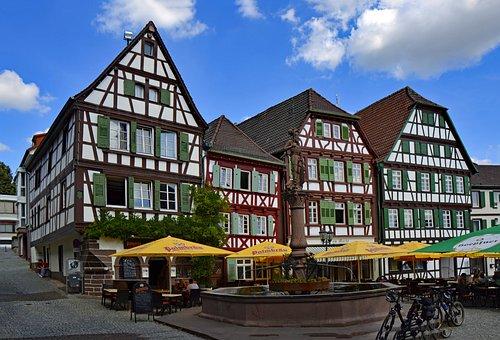 Bretten, Baden Württemberg, Germany, Old Town, Truss