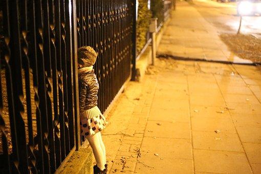 Snooping, The Little Girl, Child, The Fence, Reverie