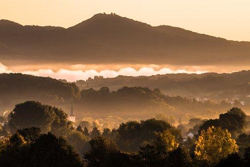Rhine, Fog, Mood, Sunrise, Germany, Rest, Nature