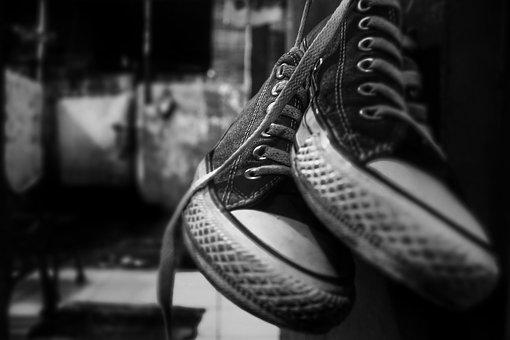 Bw, Vintage, Monocrome, Shoe