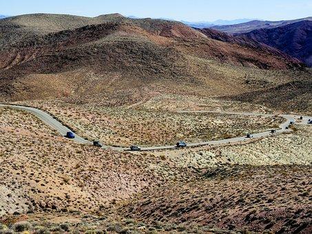 Death Valley, Caravan, Autos, Jeep, Terrain, Vehicle