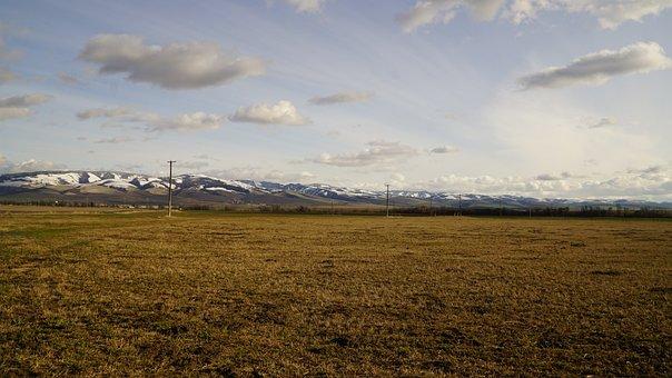 Blue, Mountains, Walla, Wa, Washington, Palouse