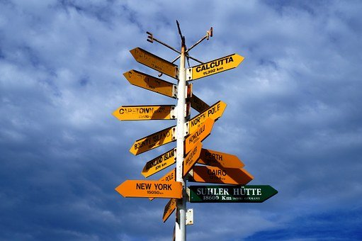 Directory, Signs, Signposts, Next, Right, Arrows