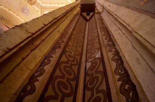 Waves, Architecture, Pillar, Perspective, Basilica