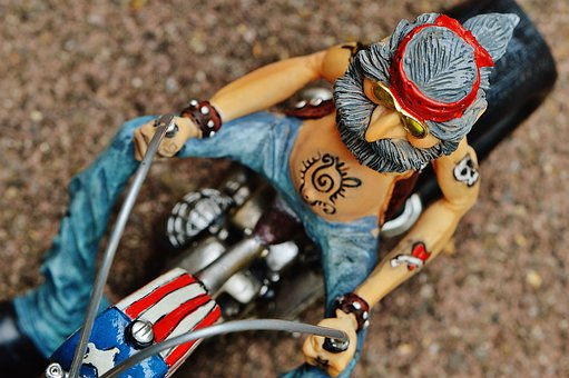 Biker, Bike, Tattooed, America, Cool, Casual, Funny