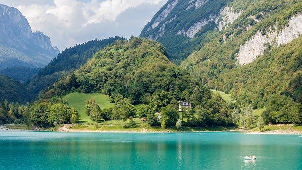 Tenno Lake, Lake, Water, Idyll, Island, Badesee, Blue