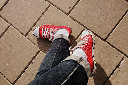 Foot, Crossed Legs, Shoe, Sneakers, Body, Body Part