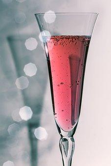 Champagne Glass, Champagne, Drink, Macro, Glasses