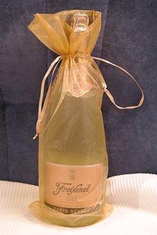 Champagne, Gift, Loop, Packed, Golden, Freixenet