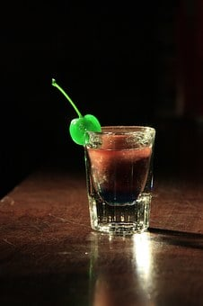 Green, Cherry, Shot, Drink, Bar, Decoration, Alcoholic