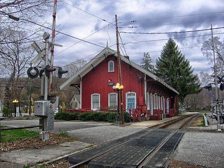 Kent, Connecticut, Station, Train, Depot, Railroad