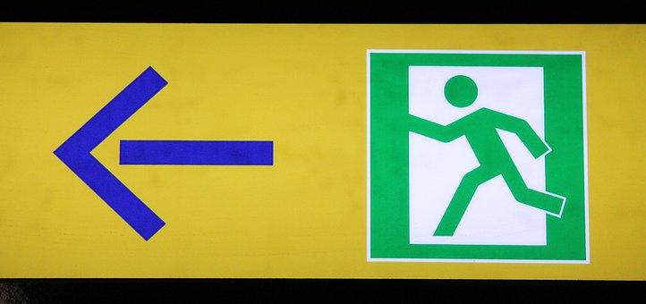 Emergency Exit, Escape Route, Rescue, Door, Emergency