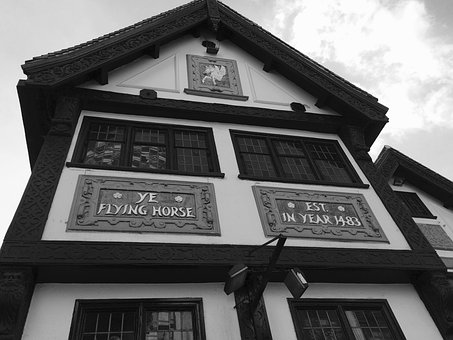 Flying Horse, Pub, Nottingham, England, Uk, Historical