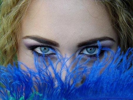 Eye, Blue, Green, Gene, Seductive, Makeup