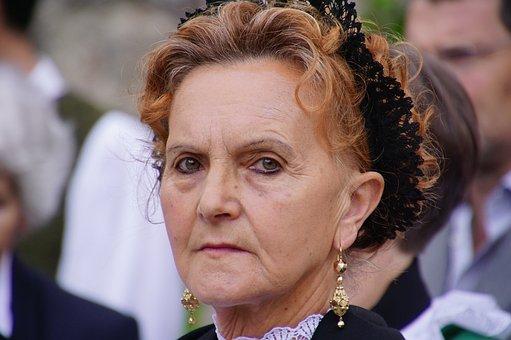 Woman, Portrait, Hair, Face, Look, Trick, Person, Color