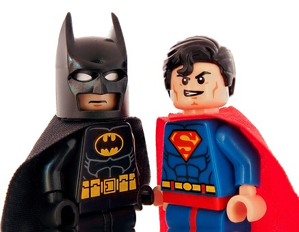 Batman, Superman, Lego, Superhero, Hero, Fast, Strong