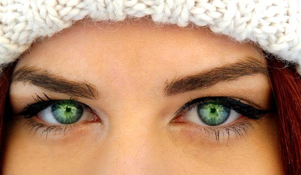 Green Eyes, Iris, Gene, Seductive, Makeup, Beauty