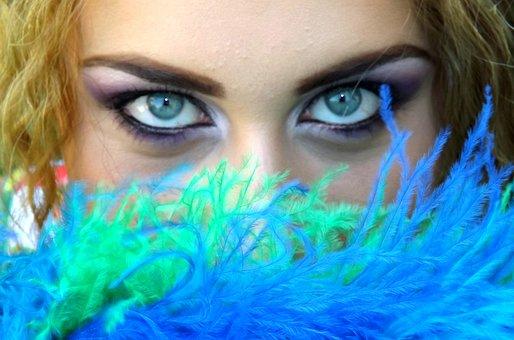 Eye, Blue, Green, Girl, Gene, Seductive, Makeup