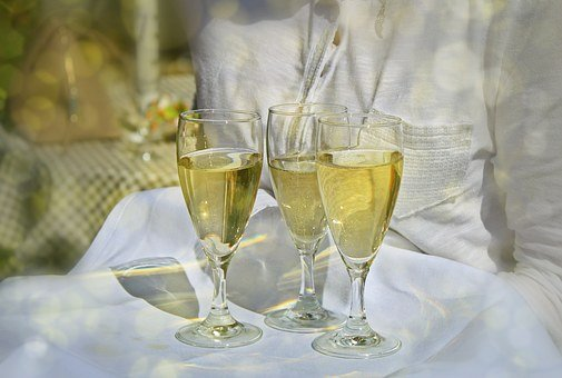 Champagne, Champagne Glasses, Glasses, Drink