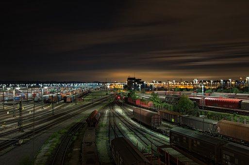 Railway Station, Gleise, Freight Trains