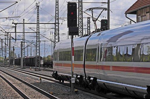 Railway, Railway Station, Exit, Signals, Green Light