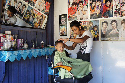 Hairdresser, Barbershop, Funny, Retro, Cheesy, Myanmar