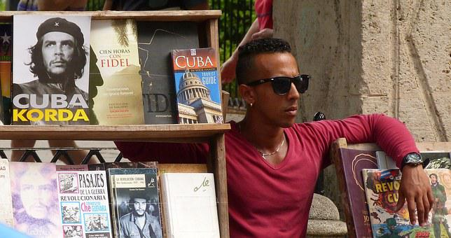 Havana, Cuba, Man, Seller, Latino, Books, Casual